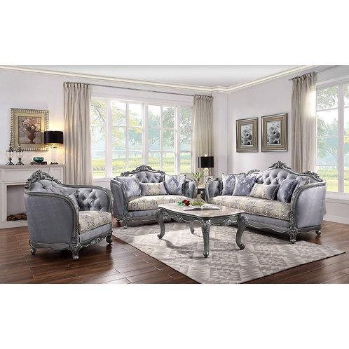 All Ariadne Traditional Fabric and Platinum Sofa