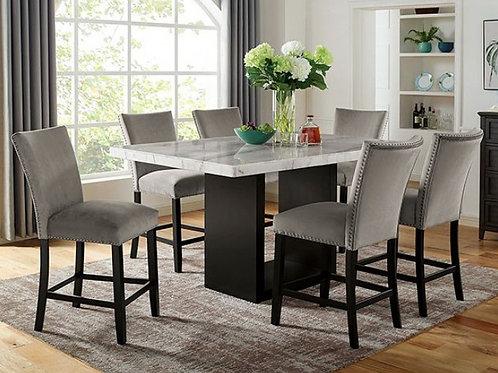 KIAN II Imprad Genuine Marble-Black Base Counter Ht. Dining Table