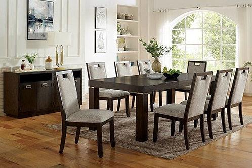 CATERINA Imprad Transitional Dark Walnut Dining Table w/Leaf