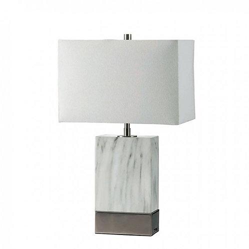 Faith Imrad Marble/Silver Lamp