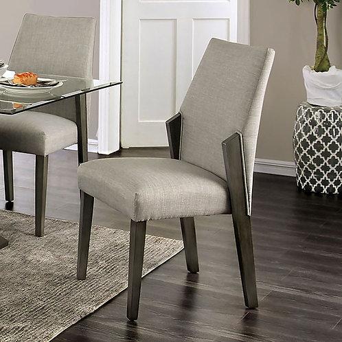 Turton Imprad Mid-Century Modern Gray Chair