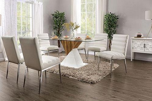 BIMA Imprad Glass/White-Natural Tone Dining Table