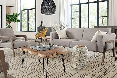 Blair Grey Fabric/Wood Frame Sofa