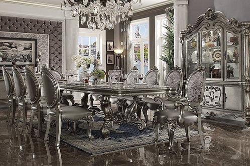Versailles ALL Antique Platinum Finish Dining Table