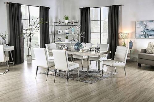 SINDY Imprad Light Gray/Chrome Dining Table