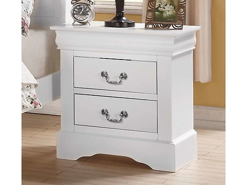 Louis Philippe All Nightstand White