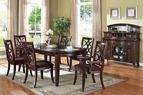 Keenan All Dark Walnut Finish Dining Table