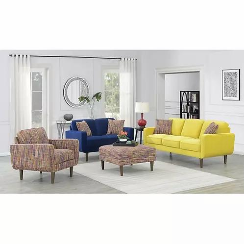 Emeral Jax Yellow Velvet Sofa