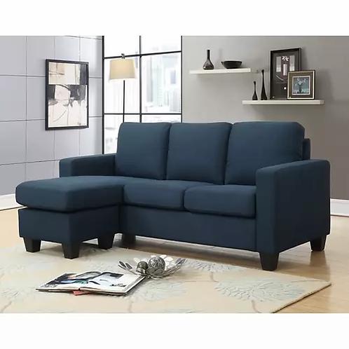 Emeral Nix Navy Fabric Sofa Chaise