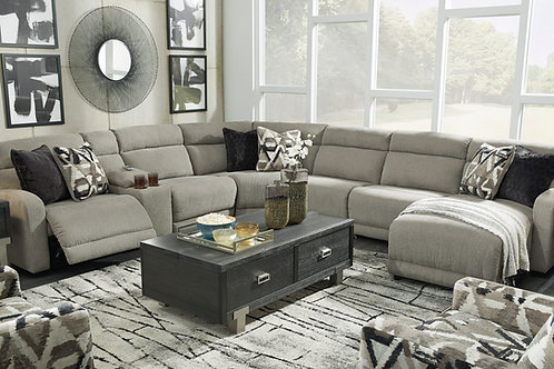 Colleyville Angel Contemporary Smoke PWR Reclining Sectional (7PCS)