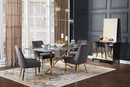 Arcade Dining Table Black and Gold