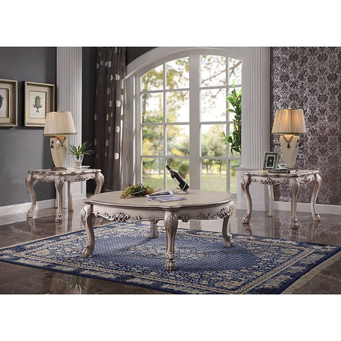 Dresden All Oval Coffee Table Vintage Bone White