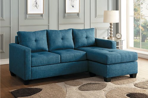 Henry Phelps Blue Fabric Reversible Sofa Chaise