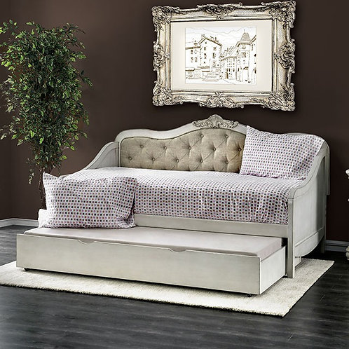 SEBASTIANNE Imprad Antique White Daybed with Trundle