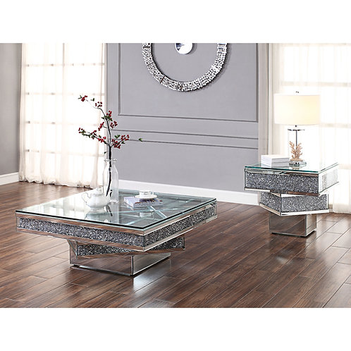 Noralie All 81465 Mirrored Square Coffee Table
