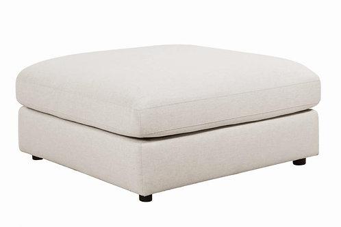 Serene Cali Upholstered Beige Ottoman