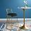 Thumbnail: Rivulet Mod Velvet Bar Stool in Gold Black