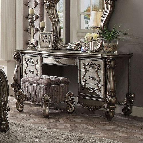 Versailles All Antique Platinum Finish Vanity Desk (Dresser)