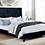 Thumbnail: Imprad RYLEIGH Transitional Black Velvet-like Fabric Bed