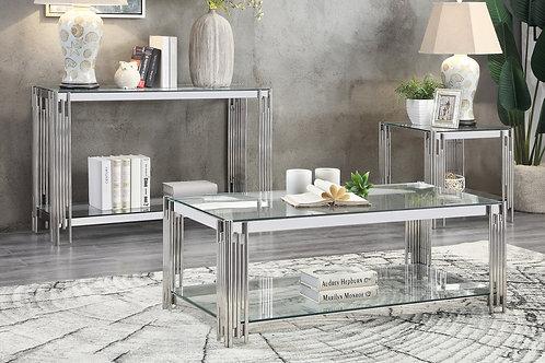 Henry Porfirio Glass Top/Chrome Legs Coffee Table