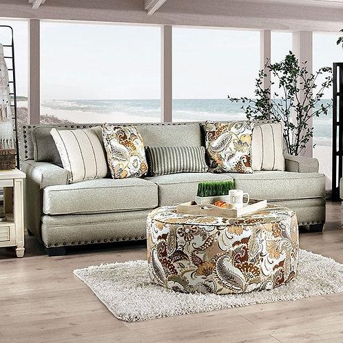 BEGLEY Imprad Mocha Chenille Sofa