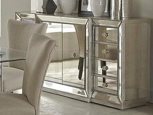 T1803 Best Mirrored Silver Sideboard