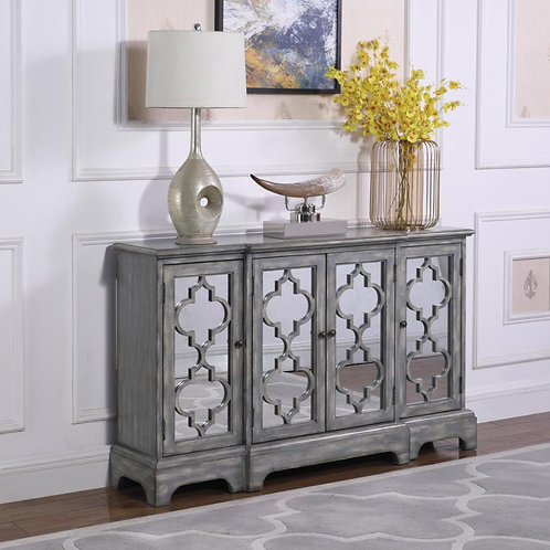 Cali 950822 Accent Cabinet Antique Grey Finish