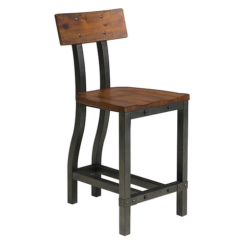 Holverson Henry Rustic Brown Counter Chair