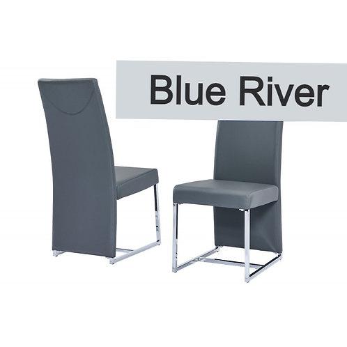 Blue River BA222 Modern Gray Leatherette Side Chair