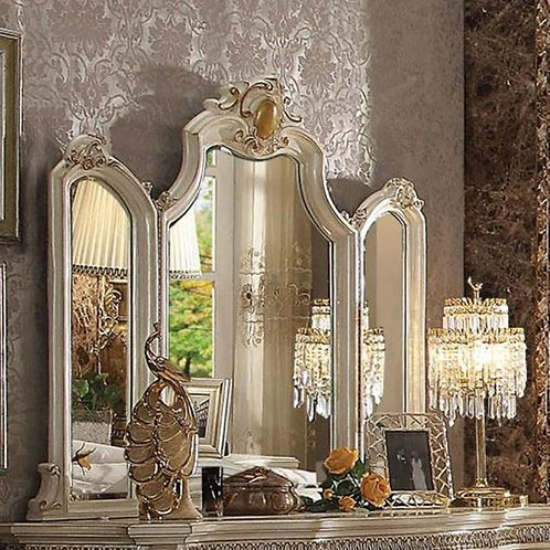 Picardy All Antique Pearl Finish Mirror