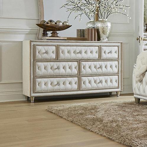 Antonella Cali Ivory & Camel Velvet Dresser