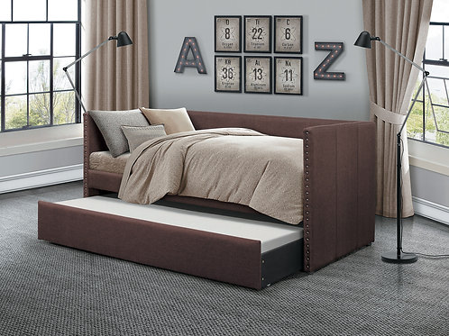 Theres Henry Chocolate Fabric Daybed w/Trundle