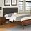 Thumbnail: Cali Robyn Mid-Century Dark Walnut Padded Bed Frame