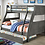 Thumbnail: HOOPLE Imprad Twin/Full Gray Bunk Bed w/Trundle