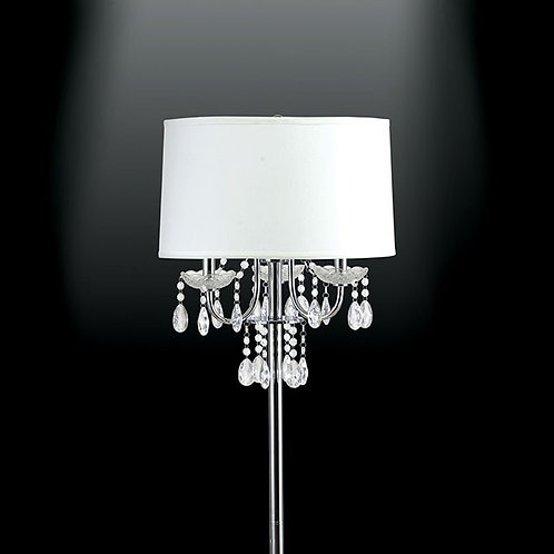 Jada Imprad White Metal Floor Lamp