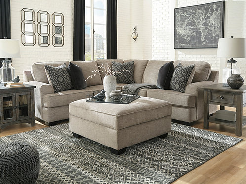 Bovarian Angel Beige Sectional with Pillows