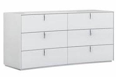Belagio GU White Modern Dresser