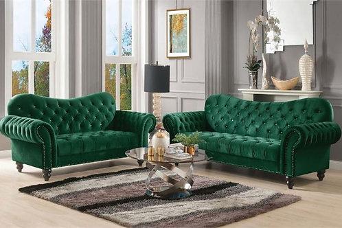 Iberis All Green Velvet Sofa