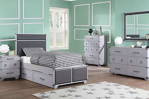 Orchest All Gray Twin Bed