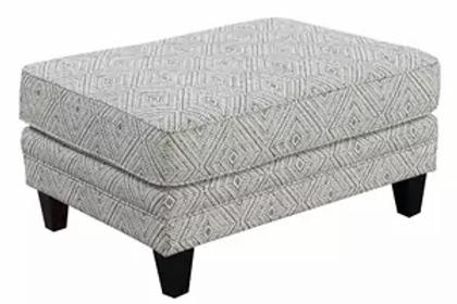 Emeral Trilogy Beige Fabric Ottoman