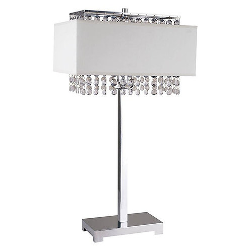 Naya Imprad White / Silver Metal Table Lamp