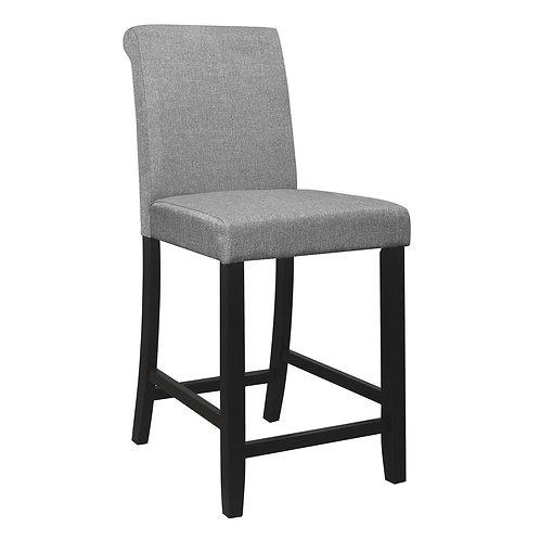 Adina Henry Gray Counter Height Fabric Chair