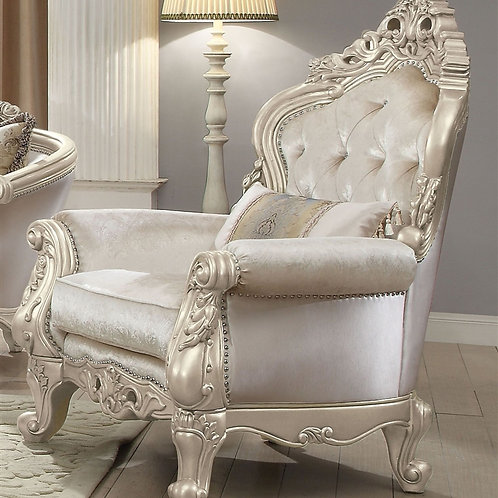 All Gorsedd Chair w/1 Pillow Fabric & Antique White