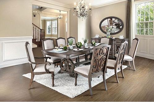 ARCADIA Imprad Rustic Natural Tone Expandable Dining Table
