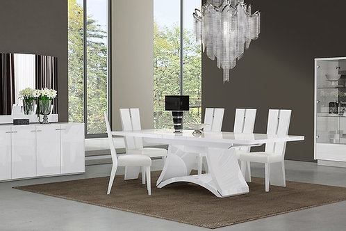 313 Geo White Dining Table