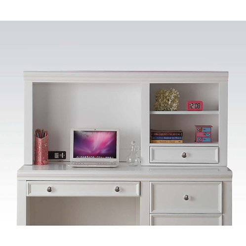 Lacey All Computer Hutch White