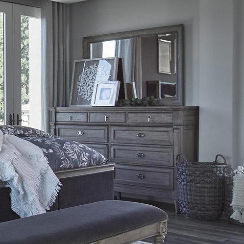 Cali Alderwood Transitional French Grey Dresser