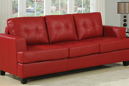 Platinum All Sofa w/Queen Sleeper Red Bonded Leather