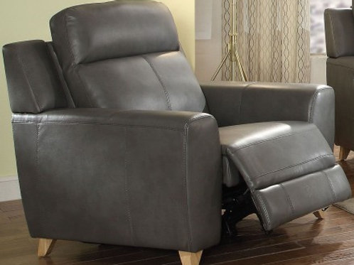 Cayden All Chair (Power Motion) Gray Leather-Aire Match