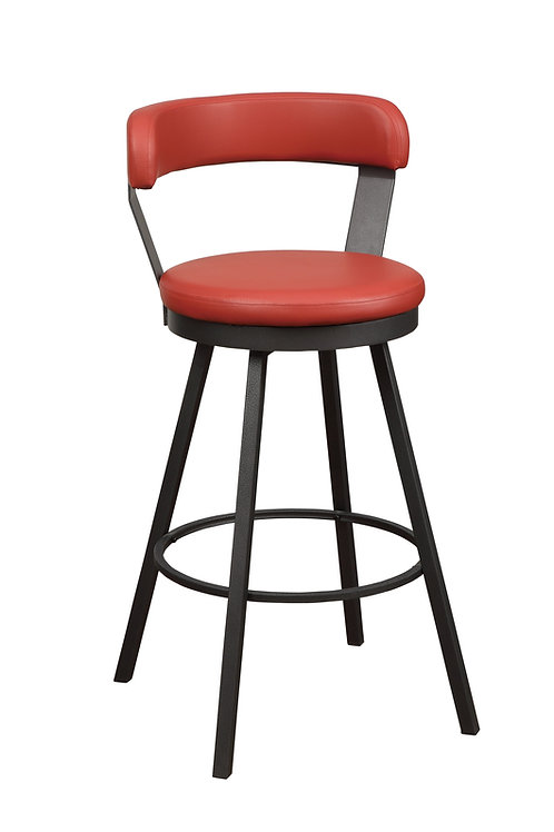 Appert Henry  Swivel Counter Height Chair, Red